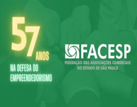 Notícia: Facesp completa 57 anos na defesa dos direitos dos empreendedores