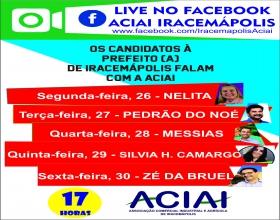 Notícia: Aciai promoverá Live com candidatos de Iracemápolis na próxima semana