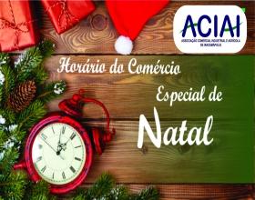 Notícia: Comércio começa horário especial de Natal no dia 4