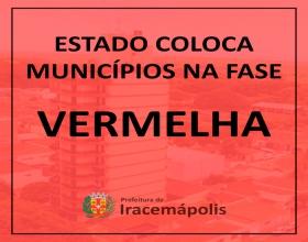 Notícia: Estado coloca municípios na Fase  Vermelha do Plano São Paulo