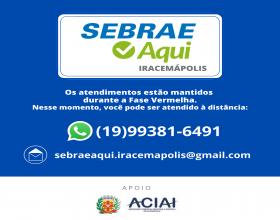 Notícia:  SEBRAE AQUI IRACEMÁPOLIS