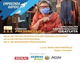 Notícia: Sebrae Aqui Iracemápolis e SENAI oferecem 48 vagas para cursos técnicos presenciais e gratuitos
