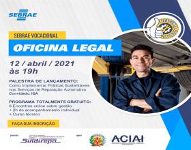 Notícia: Sebrae realiza curso online exclusivo para empresas de reparação automotiva