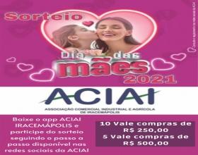 Notícia: Sorteio Dia das Mães ACIAI 2021