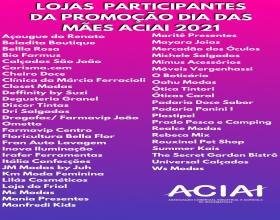 Notícia: Lojas participantes da Promoção Sorteio Dia das Mães ACIAI 2021