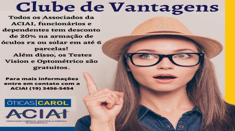 Notícia: A ACIAI em parceria com a Óticas Carol Iracemápolis