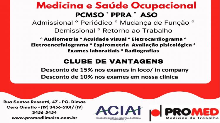 Notícia: AACIAI em parceria com a Promed Medicina do Trabalho