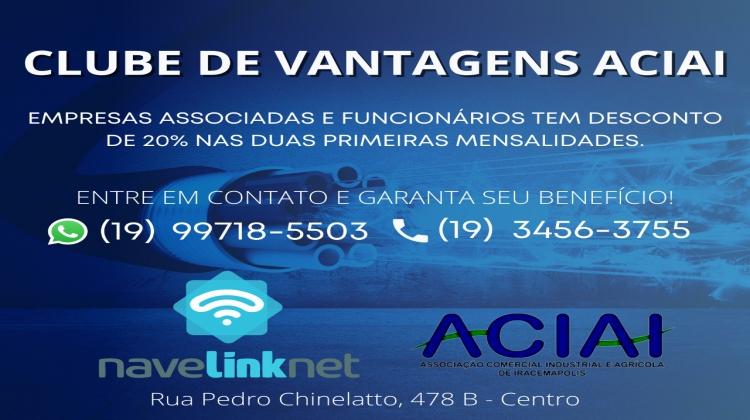 Notícia: A ACIAI em parceria com a empresa Navelinknet Iracemápolis