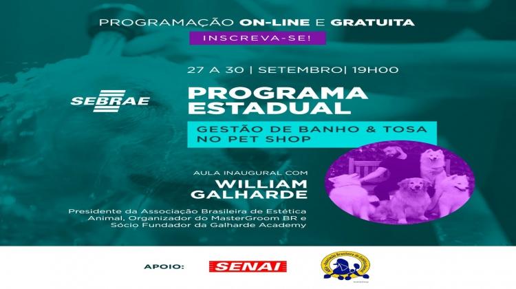 Notícia: Programa gratuito GESTÃO DE BANHO E TOSA NO PET SHOP