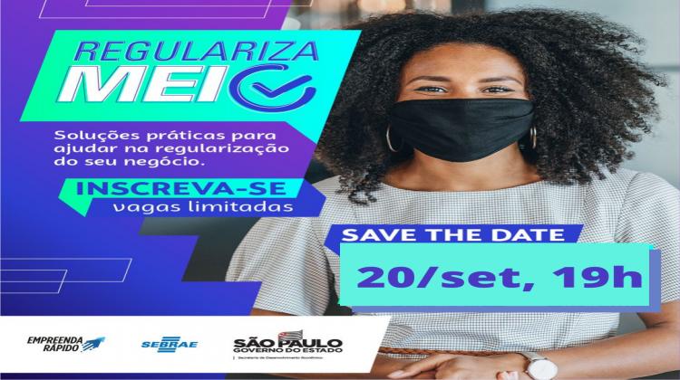 Notícia: Sebrae realiza mais um encontro online para tirar dúvidas sobre regularização do MEI em 20/09