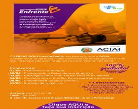 Notícia: ACIAI e SEBRAE lançam programa ENFRENTE