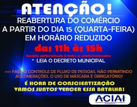 Notícia: Reabertura do Comércio de Iracemápolis acontece quarta-feira, 15